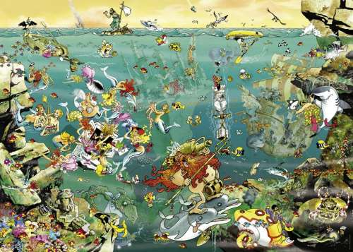 Under Water (HEY29694), a 1000 piece jigsaw puzzle by HEYE. Click to view larger image.