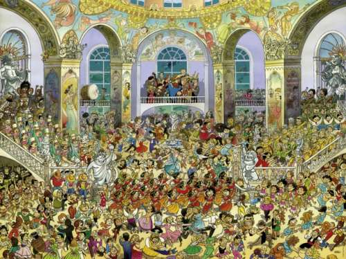 Ballroom (HEY29696), a 1500 piece jigsaw puzzle by HEYE. Click to view larger image.