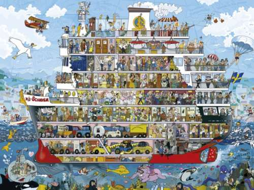 Cruise (HEY29697), a 1500 piece jigsaw puzzle by HEYE. Click to view larger image.