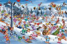 Christmas Skiiing. Click to view this product