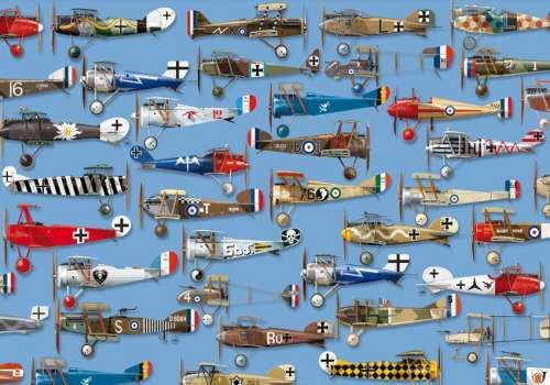 Dogfight (PIA538049), a 1000 piece jigsaw puzzle by Piatnik. Click to view larger image.