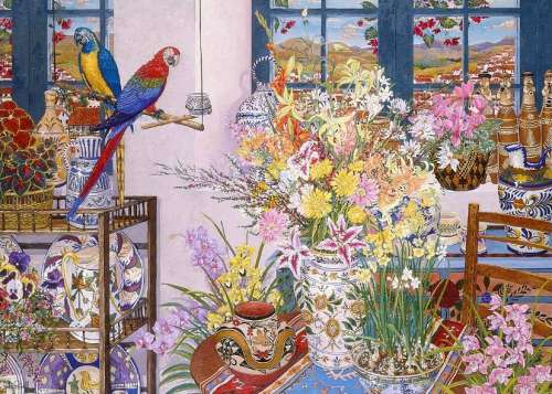 Peruvian Whistles (In Bloom) (HOL095247), a 1000 piece jigsaw puzzle by Holdson. Click to view larger image.