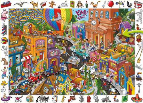 World in a Hurry (HOL095179), a 100 piece jigsaw puzzle by Holdson. Click to view larger image.