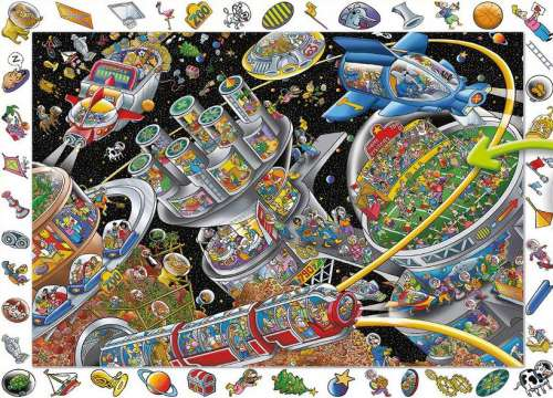 Space Colony (HOL095162), a 100 piece jigsaw puzzle by Holdson. Click to view larger image.
