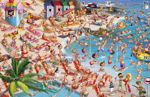 Beach Day (PIA536748), a 1000 piece jigsaw puzzle by Piatnik. Click to view larger image.