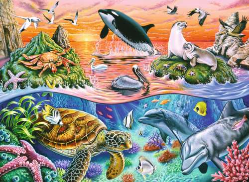Beautiful Ocean (RB10681-3), a 100 piece jigsaw puzzle by Ravensburger. Click to view larger image.