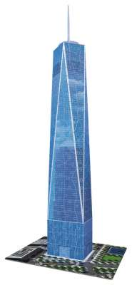 One World Trade Centre (3D Puzzle) (RB12562-3), a 216 piece jigsaw puzzle by Ravensburger. Click to view larger image.