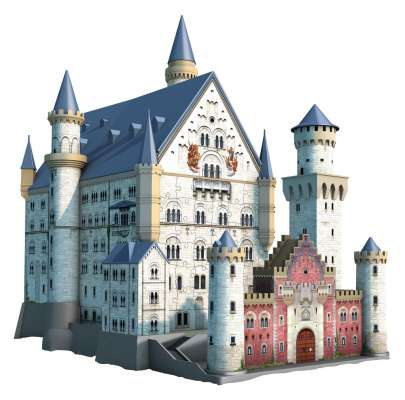 Neuschwanstein Castle 3D Puzzle (RB12573-9), a 216 piece jigsaw puzzle by Ravensburger. Click to view larger image.