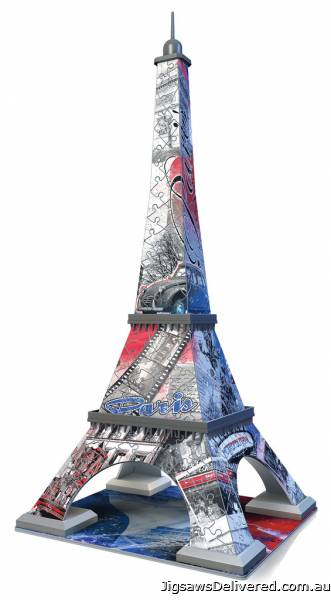 Eiffel Tower (Flag Edition) 3D Puzzle (RB12580-7), a 216 piece jigsaw puzzle by Ravensburger.