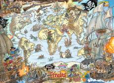 Pirate Map (RB12802-0), a 200 piece Ravensburger jigsaw puzzle.