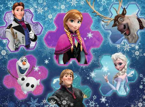 Disney Frozen (RB13180-8), a 300 piece jigsaw puzzle by Ravensburger. Click to view larger image.