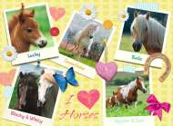 I Love Horses (RB13186-0), a 300 piece Ravensburger jigsaw puzzle.