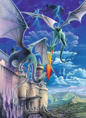 Fire Breathing Dragon (RB13193-8), a 300 piece jigsaw puzzle by Ravensburger. Click to view larger image.