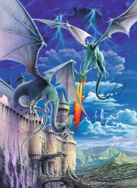 Fire Breathing Dragon (RB13193-8), a 300 piece jigsaw puzzle by Ravensburger.