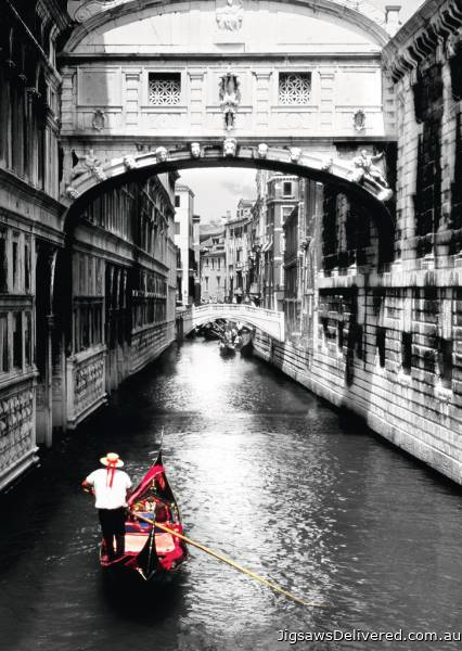 Venice Grand Canal (RB19472-8), a 1000 piece jigsaw puzzle by Ravensburger.