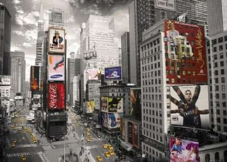 Times Square Eye (RB19470-4), a 1000 piece jigsaw puzzle by Ravensburger. Click to view larger image.
