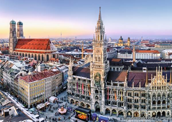 Munich, Germany (RB19426-1), a 1000 piece jigsaw puzzle by Ravensburger.