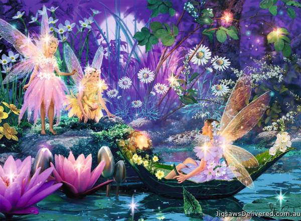 Fairy with Butterflies ('Brilliant' edition w/ gems) (RB14882-0), a 500 piece jigsaw puzzle by Ravensburger.