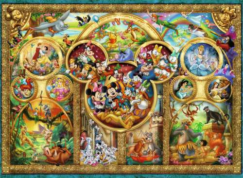 Disney Family (RB14183-8), a 500 piece jigsaw puzzle by Ravensburger. Click to view larger image.
