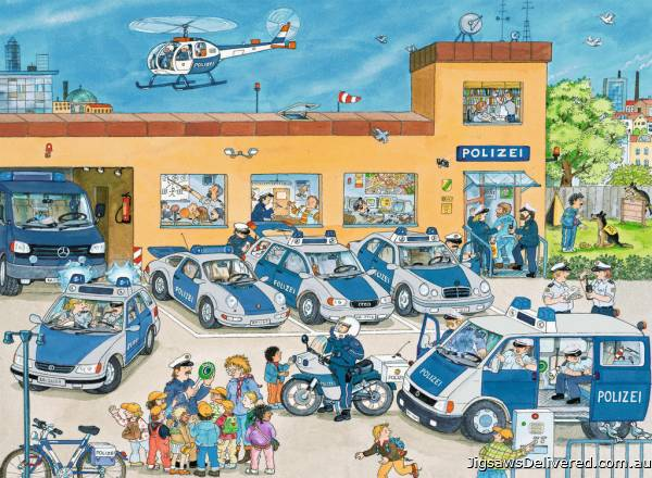 Police Station (RB10867-1), a 100 piece jigsaw puzzle by Ravensburger.