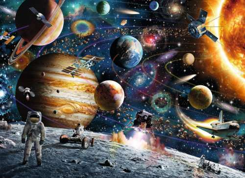 Outer Space (RB09615-2), a 60 piece jigsaw puzzle by Ravensburger. Click to view larger image.