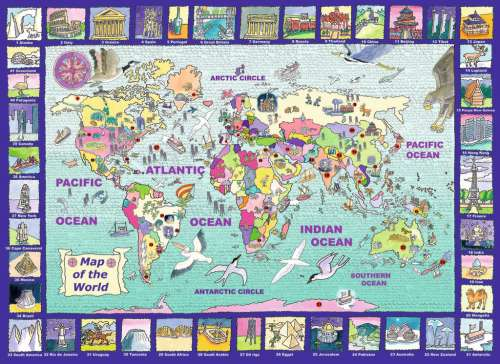 Looking at the World (RB13190-7), a 300 piece jigsaw puzzle by Ravensburger. Click to view larger image.