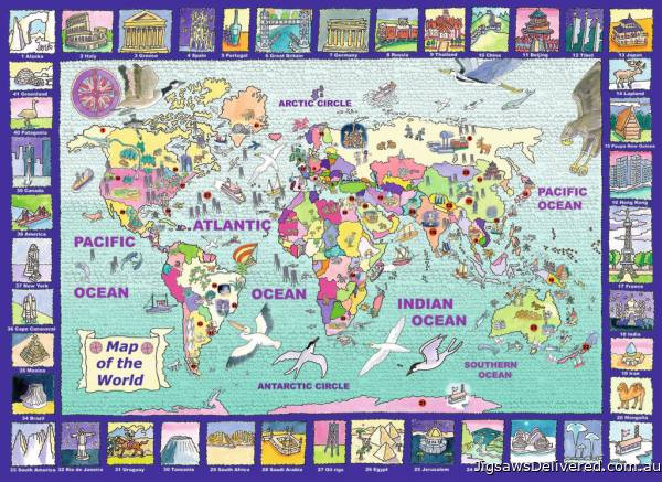 Looking at the World (RB13190-7), a 300 piece jigsaw puzzle by Ravensburger.