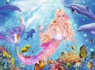 Mermaid (Foil Glitter) (RB13642-1), a 100 piece Ravensburger jigsaw puzzle.