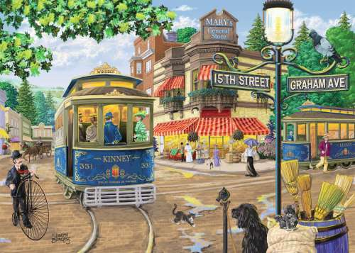 Mary's General Store (Large Pieces) (RB13571-4), a 300 piece jigsaw puzzle by Ravensburger. Click to view larger image.