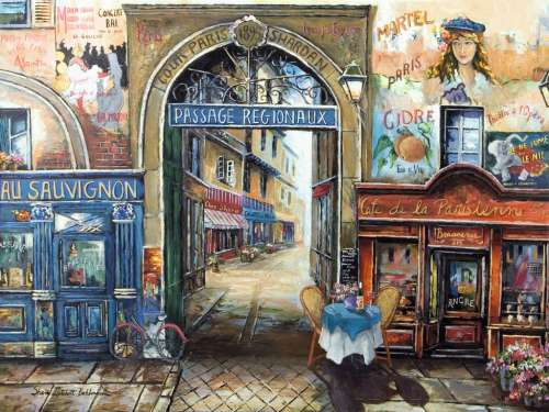 Passage to Paris (RB16241-3), a 1500 piece jigsaw puzzle by Ravensburger. Click to view larger image.