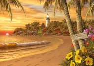 Tropical Love (Large Pieces) (RB14887-5), a 500 piece Ravensburger jigsaw puzzle.