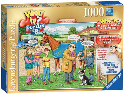The Racehorse (What If? #8) (RB19438-4), a 1000 piece jigsaw puzzle by Ravensburger. Click to view larger image.