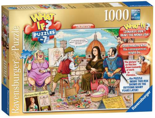 The Portrait (What If? #7) (RB19437-7), a 1000 piece jigsaw puzzle by Ravensburger. Click to view larger image.