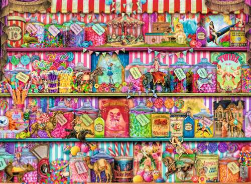The Sweet Shop (RB14653-6), a 500 piece jigsaw puzzle by Ravensburger. Click to view larger image.