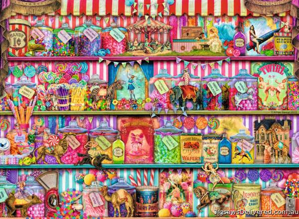 The Sweet Shop (RB14653-6), a 500 piece jigsaw puzzle by Ravensburger.