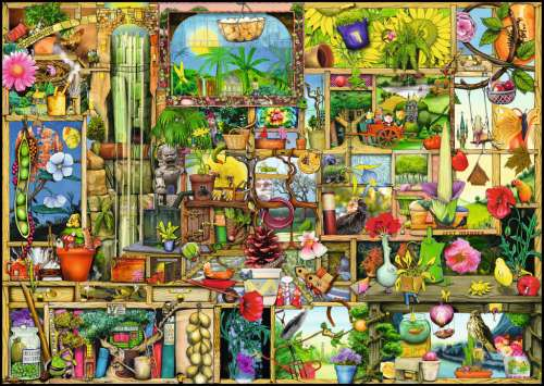 The Gardener's Cupboard (RB19498-8), a 1000 piece jigsaw puzzle by Ravensburger. Click to view larger image.