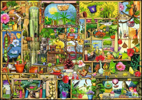The Gardener's Cupboard (RB19498-8), a 1000 piece jigsaw puzzle by Ravensburger.