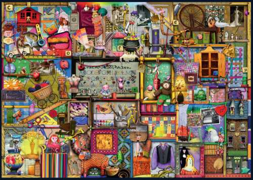 The Craft Cupboard (RB19412-4), a 1000 piece jigsaw puzzle by Ravensburger. Click to view larger image.