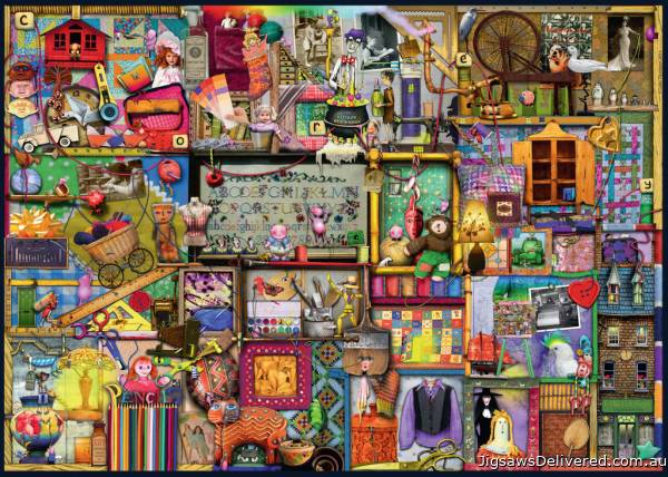 The Craft Cupboard (RB19412-4), a 1000 piece jigsaw puzzle by Ravensburger.