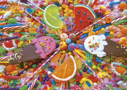 Sweets (EDU16271), a 500 piece jigsaw puzzle by Educa. Click to view larger image.