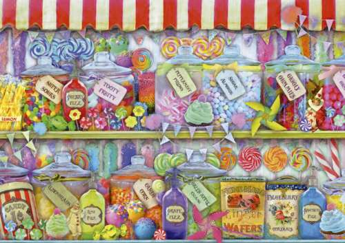 Candy Shop (EDU16291), a 1000 piece jigsaw puzzle by Educa. Click to view larger image.