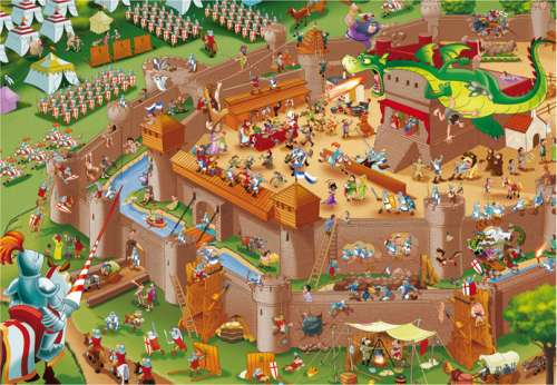 Middle Ages (EDU16343), a 1000 piece jigsaw puzzle by Educa. Click to view larger image.