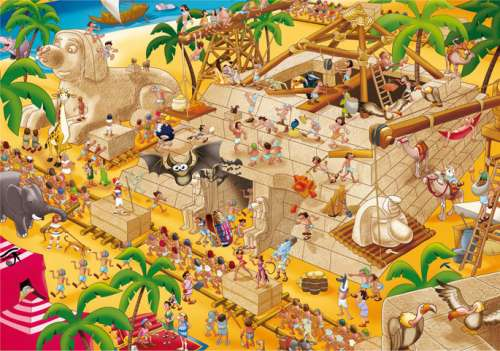 Ancient Egypt (EDU16345), a 1000 piece jigsaw puzzle by Educa. Click to view larger image.