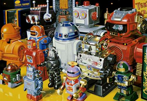 Robots (EDU15979), a 1000 piece jigsaw puzzle by Educa. Click to view larger image.