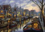 Amsterdam (Twilight Memories) (HOL095858), a 1000 piece Holdson jigsaw puzzle.