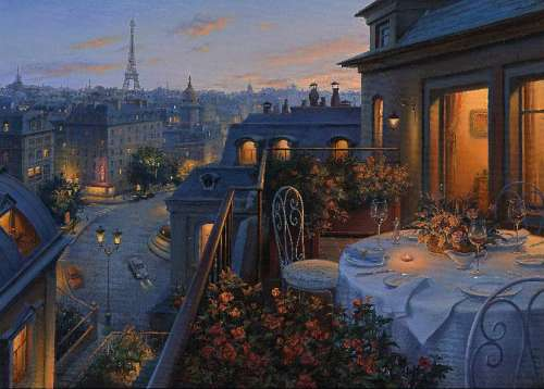 Paris Balcony (HOL095865), a 1000 piece jigsaw puzzle by Holdson. Click to view larger image.
