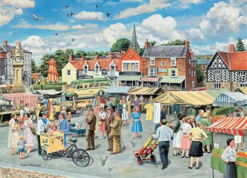 The Market (HOL096114), a 1000 piece jigsaw puzzle by Holdson. Click to view larger image.