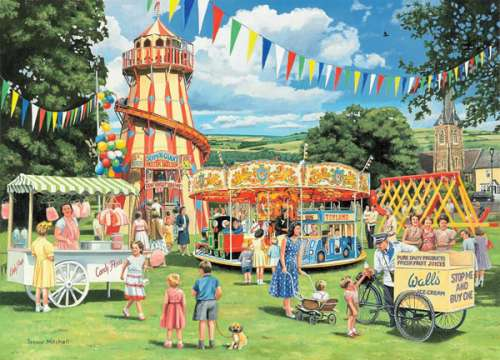 The Fun Fair (HOL096107), a 1000 piece jigsaw puzzle by Holdson. Click to view larger image.