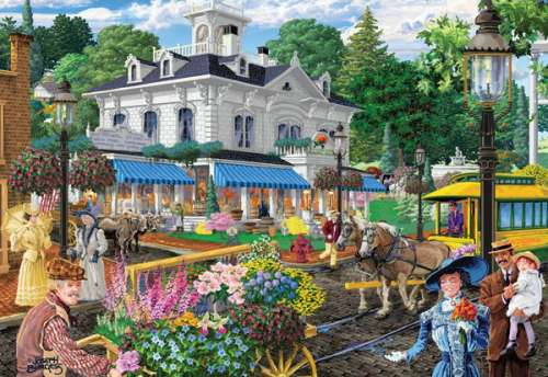 General Store (Main Streets) (HOL096329), a 500 piece jigsaw puzzle by Holdson. Click to view larger image.