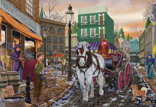Frank's Hardware (Main Streets) (HOL096299), a 500 piece jigsaw puzzle by Holdson. Click to view larger image.